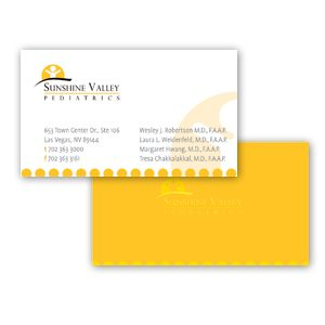 Custom business card design - Sunshine Valley Pediatrics