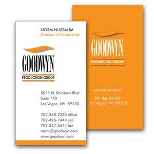 Custom business card design - Goodwyn Production Group