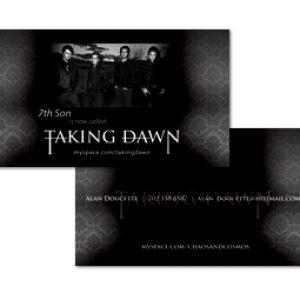 Custom business card design - Taking Dawn