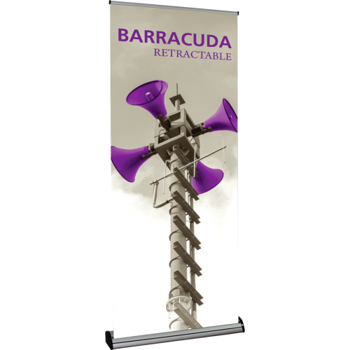 Barracuda 920 Single-Sided Retractable Banner Stand Display w/ Case