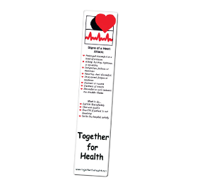 custom promotional heart attack bookmark