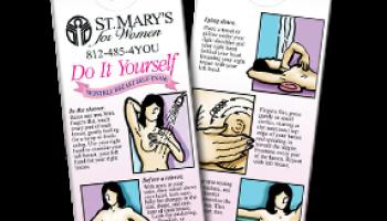 custom breast self-exam shower chart