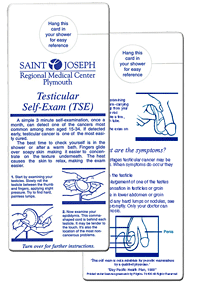 promo testicular self-exam chart