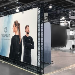 Las Vegas Custom Booth With graphic Backdrop