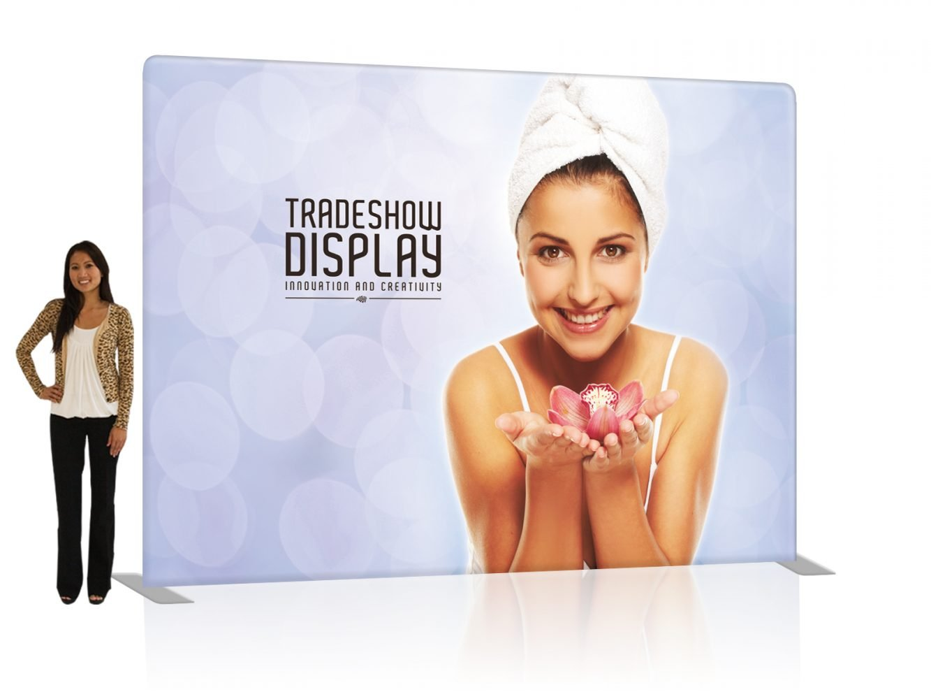 10 Ft. EZ Tube Trade Show Display with Fabric Graphic