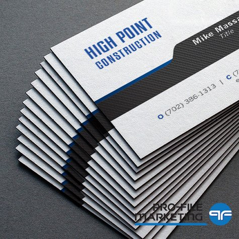 Las Vegas Business Cards with black edge